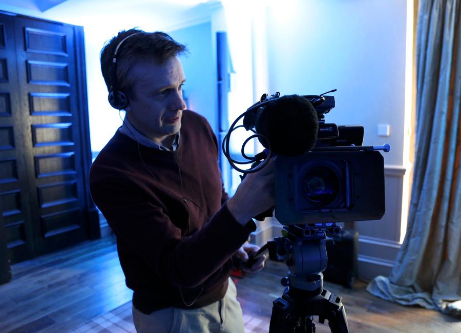 Broadcast camera man